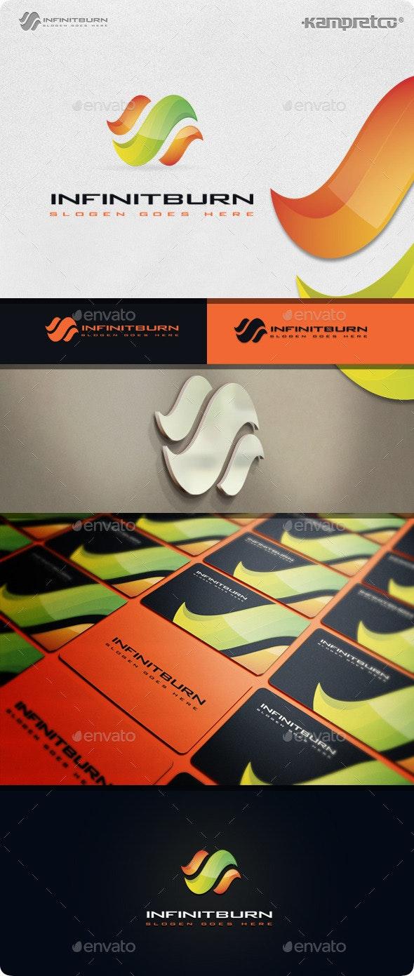 Infinity Burn Logo - 3d Abstract