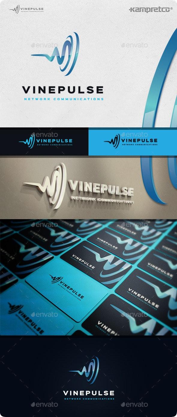 Vine Pulse Logo - 3d Abstract