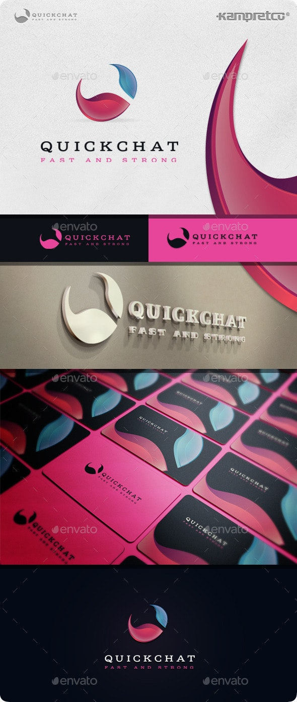 Quick Chat Logo - Letters Logo Templates