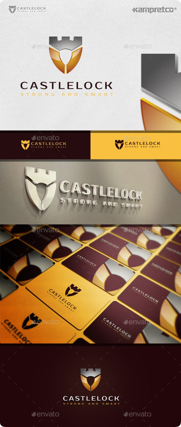 Castle Lock Logo - 3d Abstract