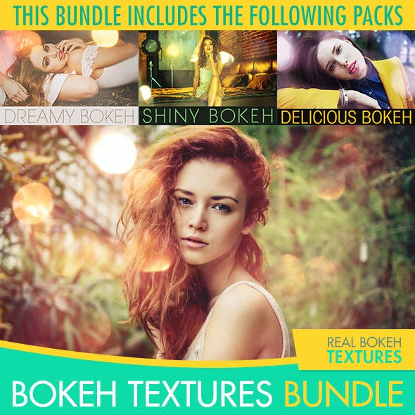 Bokeh Textures and Actions Bundle