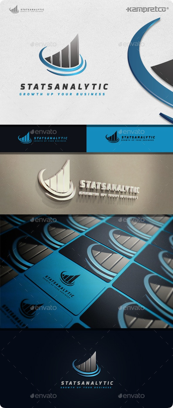 Stats Analytic Logo - 3d Abstract
