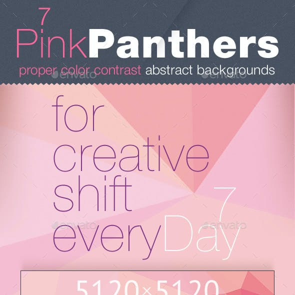 Pink Polygon Backgrounds — CMYK and RGB