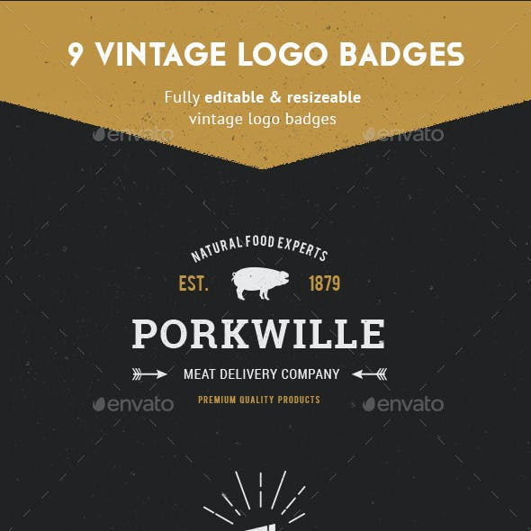 Vintage Logo Badges Vol 1
