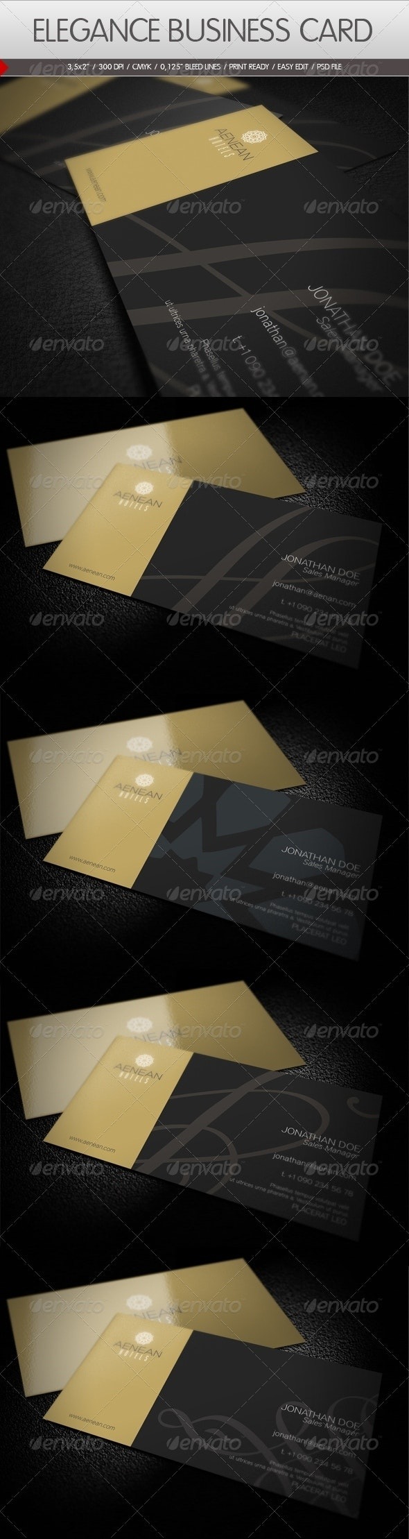 Elegance Business Card - Corporate Business Cards