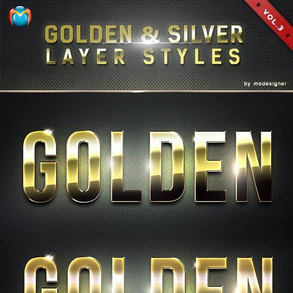 Golden & Silver Layer Styles V.3