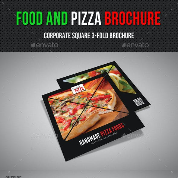 Food And Pizza Square 3-Fold Brochure 02