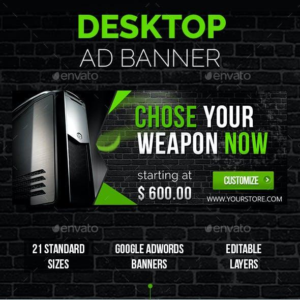 Desktop Ad Banner 21 Sizes