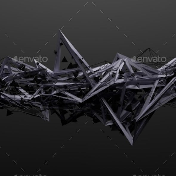 Abstract 3D Rendering Of Chaotic Structure
