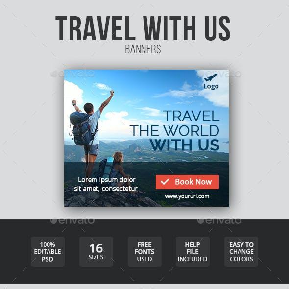 Flat & Minimal Travel Banners