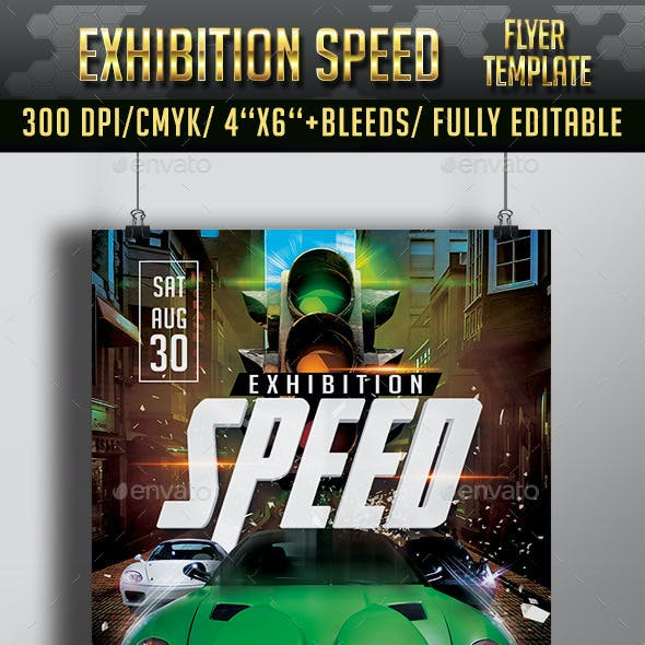 Speed Exhibiton Flyer Template