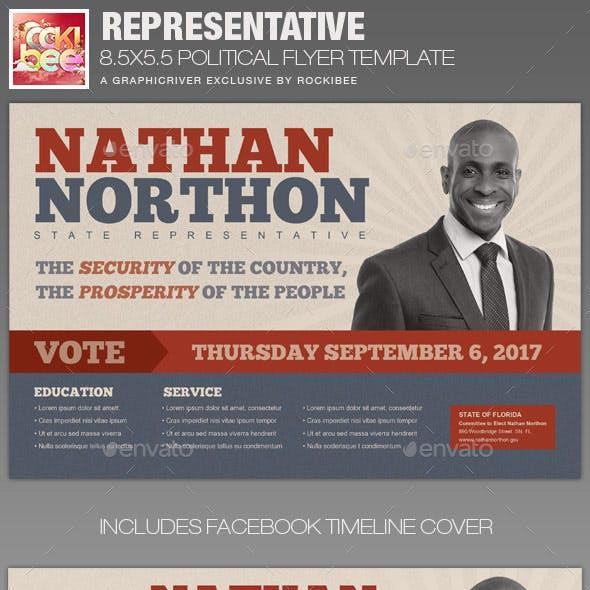 Representative Political Flyer Template