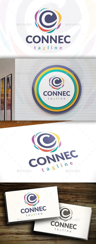 Connect C Letter Logo - Letters Logo Templates