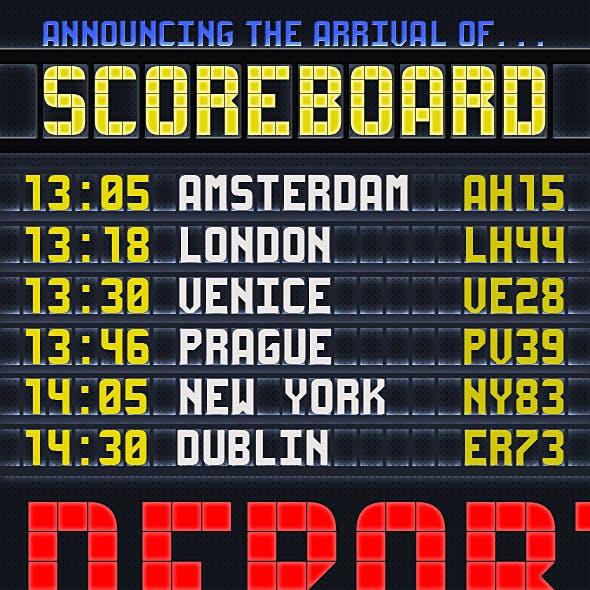 Scoreboard Monospaced CAPS Display Type
