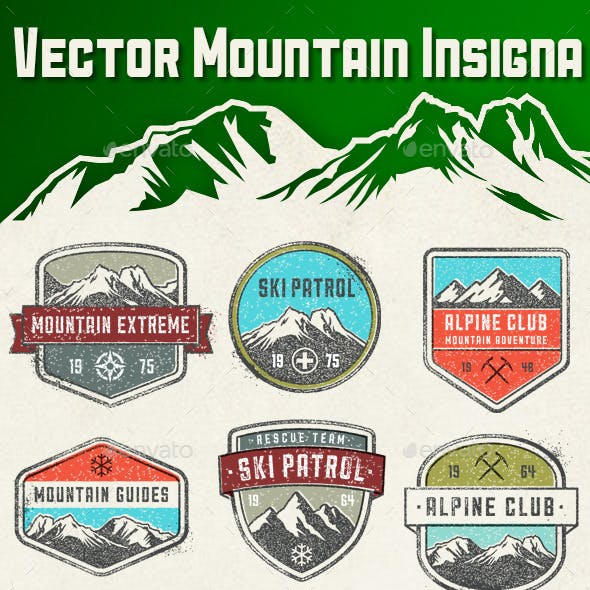 Vector Mountain Insignia