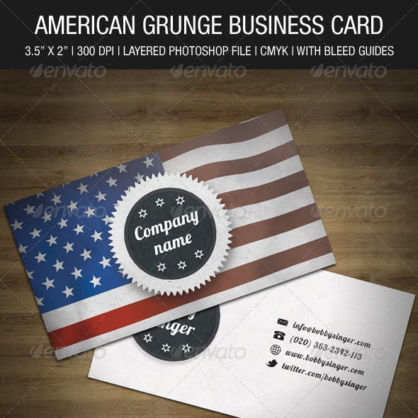 American Grunge Business Card