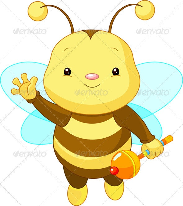 Cute baby Bee  - Animals Characters