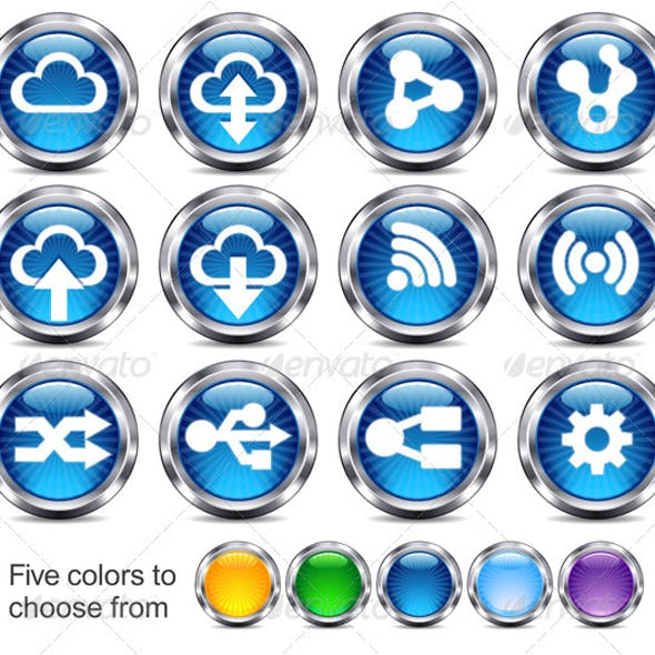 Technology Button Icons