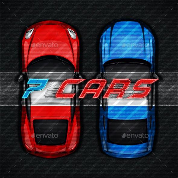 Racing Cars. Game Asset