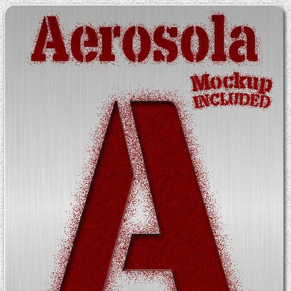 Aerosola Stencil Font