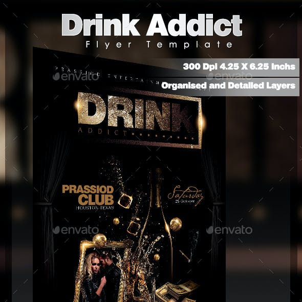 Drink Addict Flyer Template