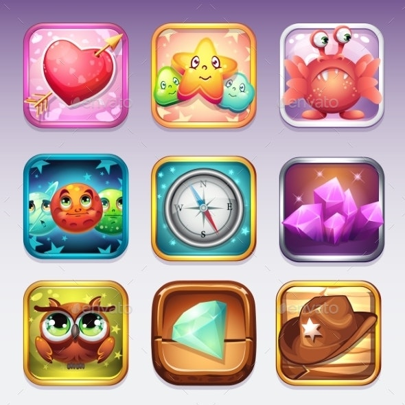 Set Icons For App Store And Google Play To - Miscellaneous Icons
