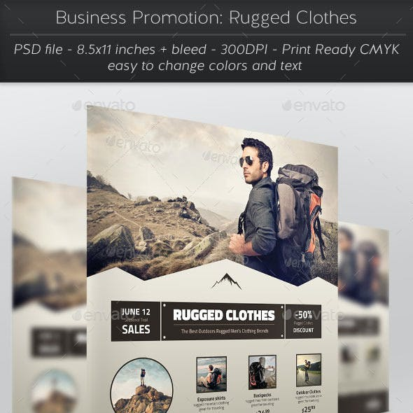 Business Promotion: Rugged Clothes