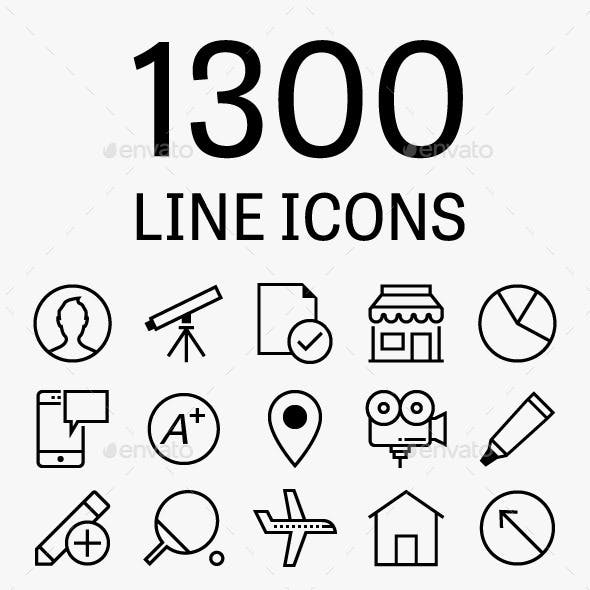 1300 Vector Line Icons