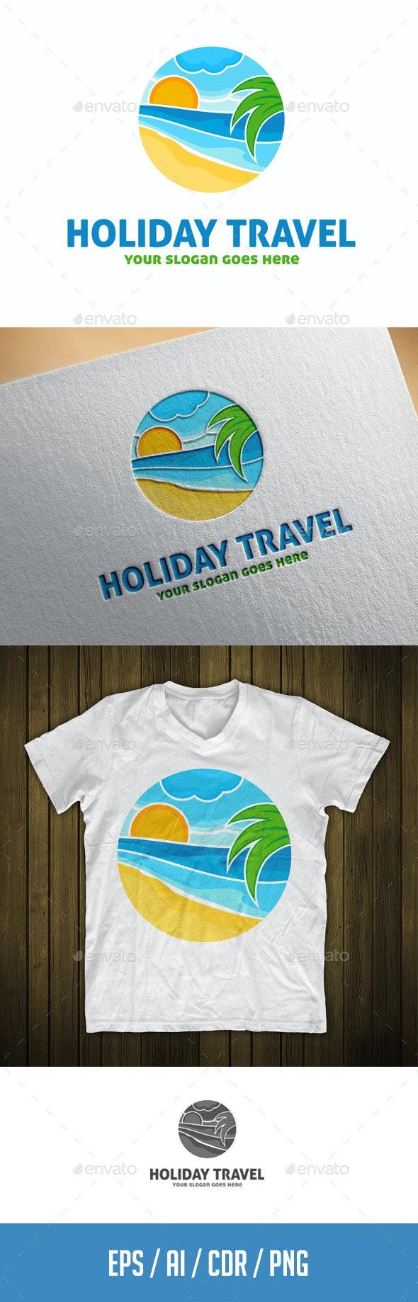 Holiday Travel Logo Template  - Nature Logo Templates