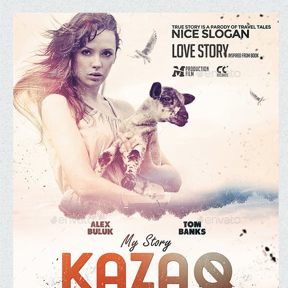 A3 My Story Kazaq Poster Film Template