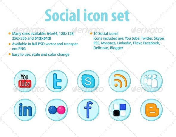 Social Icons for the Web - Web Icons