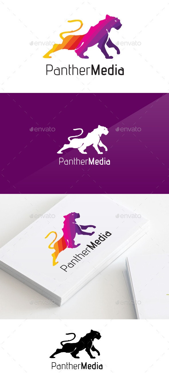 Panther Media Logo  - Animals Logo Templates