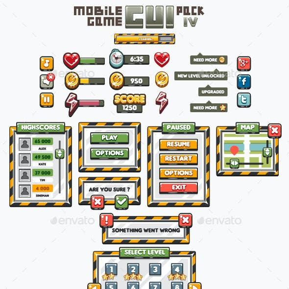 Mobile Game GUI Pack 4