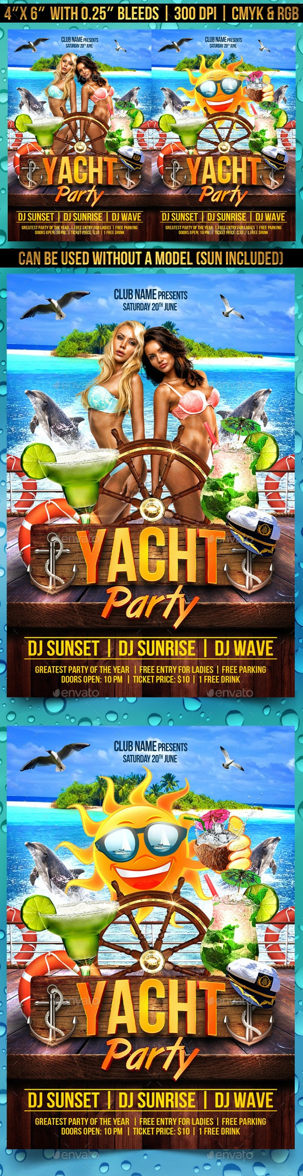 Yacht Party Flyer Template - Clubs & Parties Events