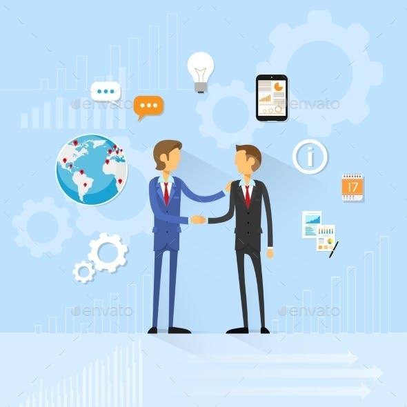 Business People Handshake, Businessmen Hand Shake