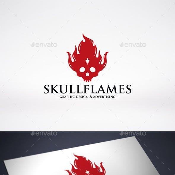 Skull Fire Logo Template