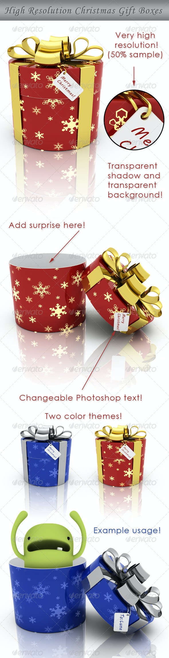 Christmas Gift Box - Miscellaneous 3D Renders