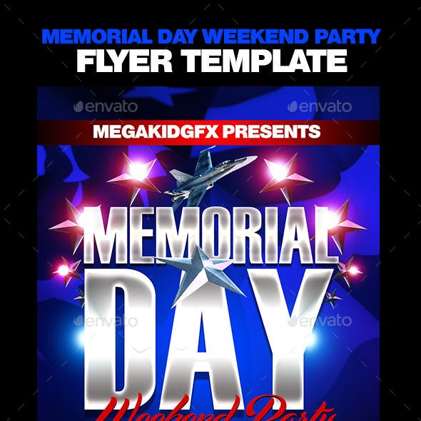 Memorial Day Weekend Party Template