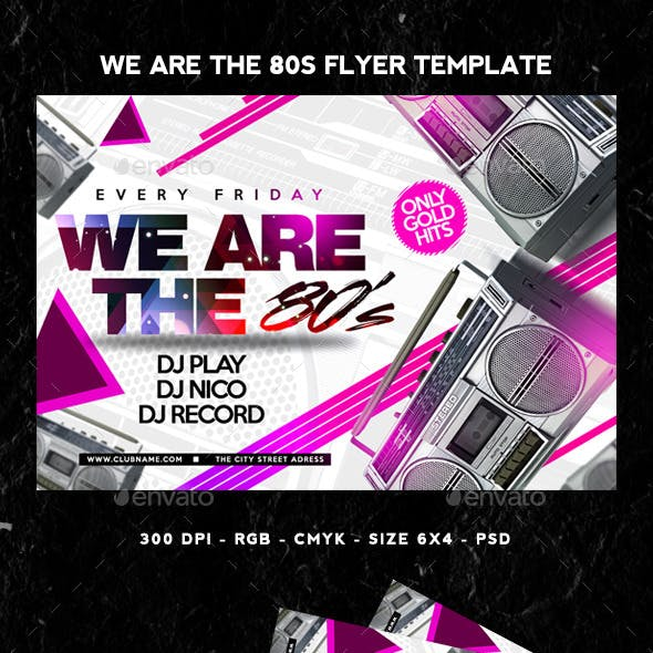 We Are The 80s Flyer