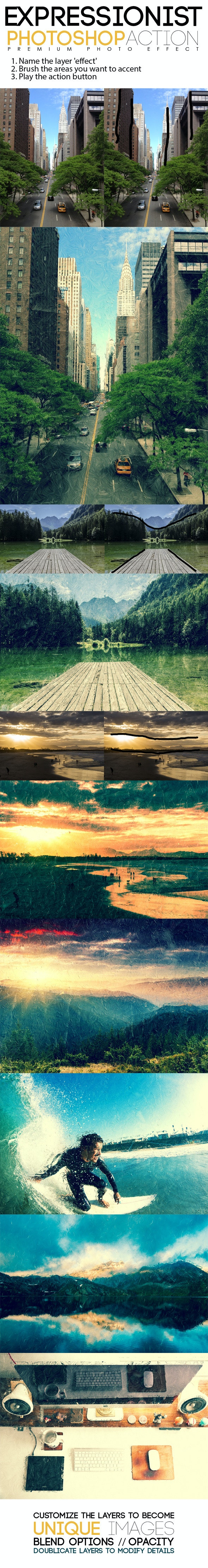 Expressionist Photoshop Action - Photo Effects Actions