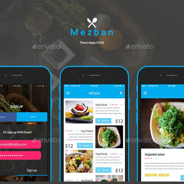 Mezban | Food Apps UI