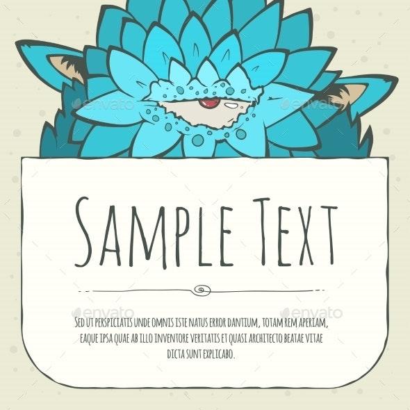 Doodle Cartoon Monster Greeteng Or Invitation - Birthdays Seasons/Holidays