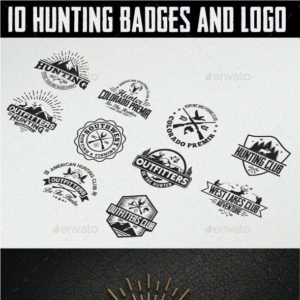 10 Hunting Vintage Badges and Logos