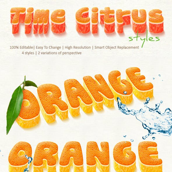 Time Citrus 3D Styles