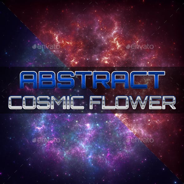 Abstract Cosmic Flower Backgrounds