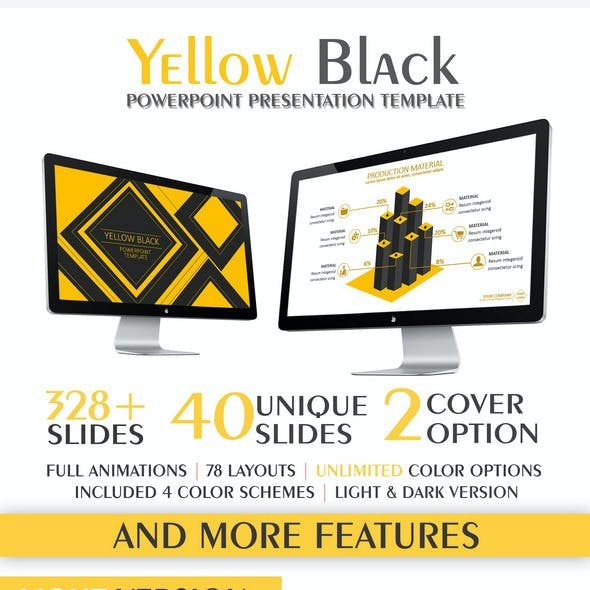Yellow Black PowerPoint Template