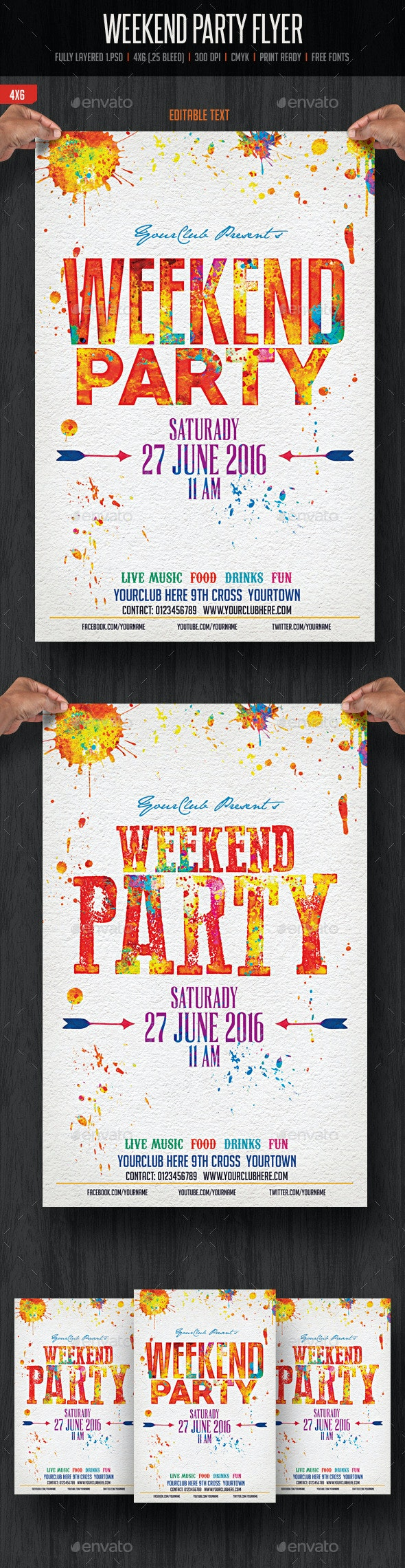 Weekend Party Flyer - Flyers Print Templates