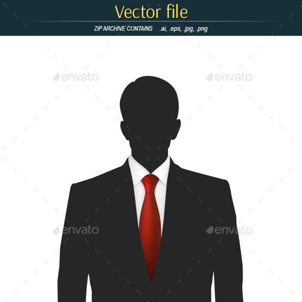Silhouette of a Man with Red Tie