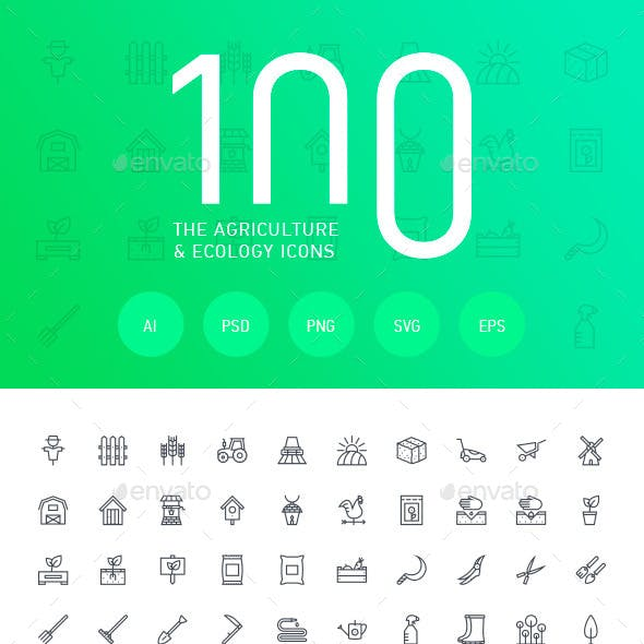 The Agriculture & Ecology Icons 100