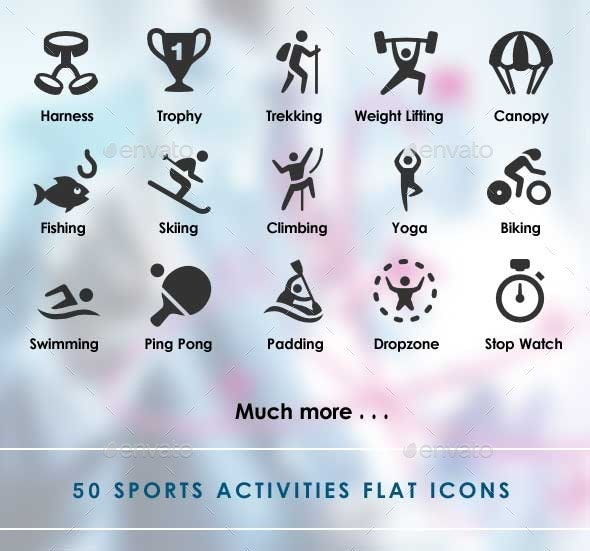 Sports Activities Flat Icons - Miscellaneous Icons